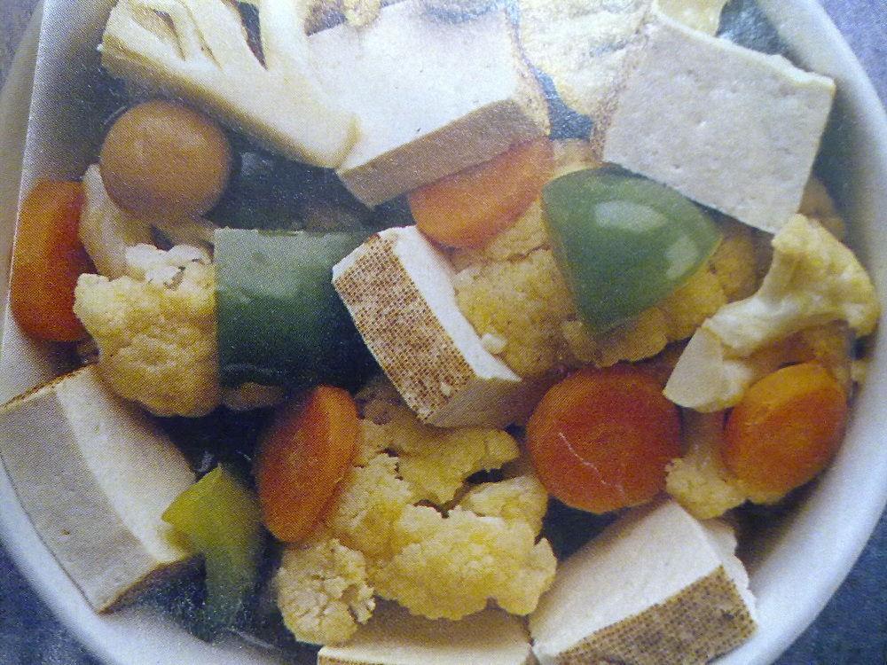 Vegetarian Recipe: Grilled Tofu with Mixed Vegetables