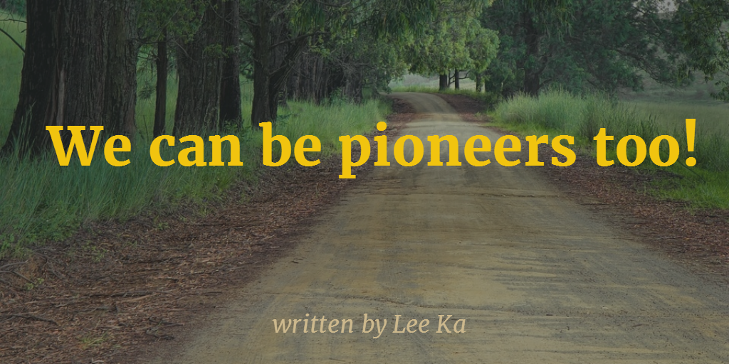 LB-we can be pioneers too