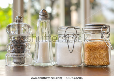 Salt is one of the condiments on Dinning Table