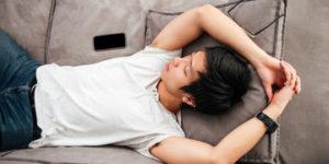 Image of a man sleeping 2