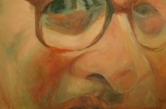 Ennio Morricone - The Look II, 80x120 cm, oil on canvas, portrait detail, painting, fine art, artwork, art